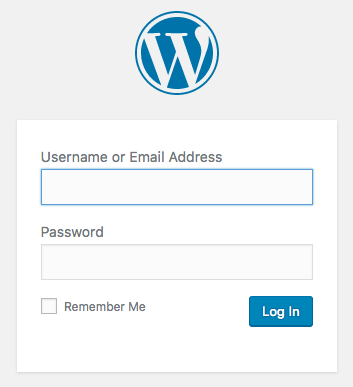 WordPress Blog Login