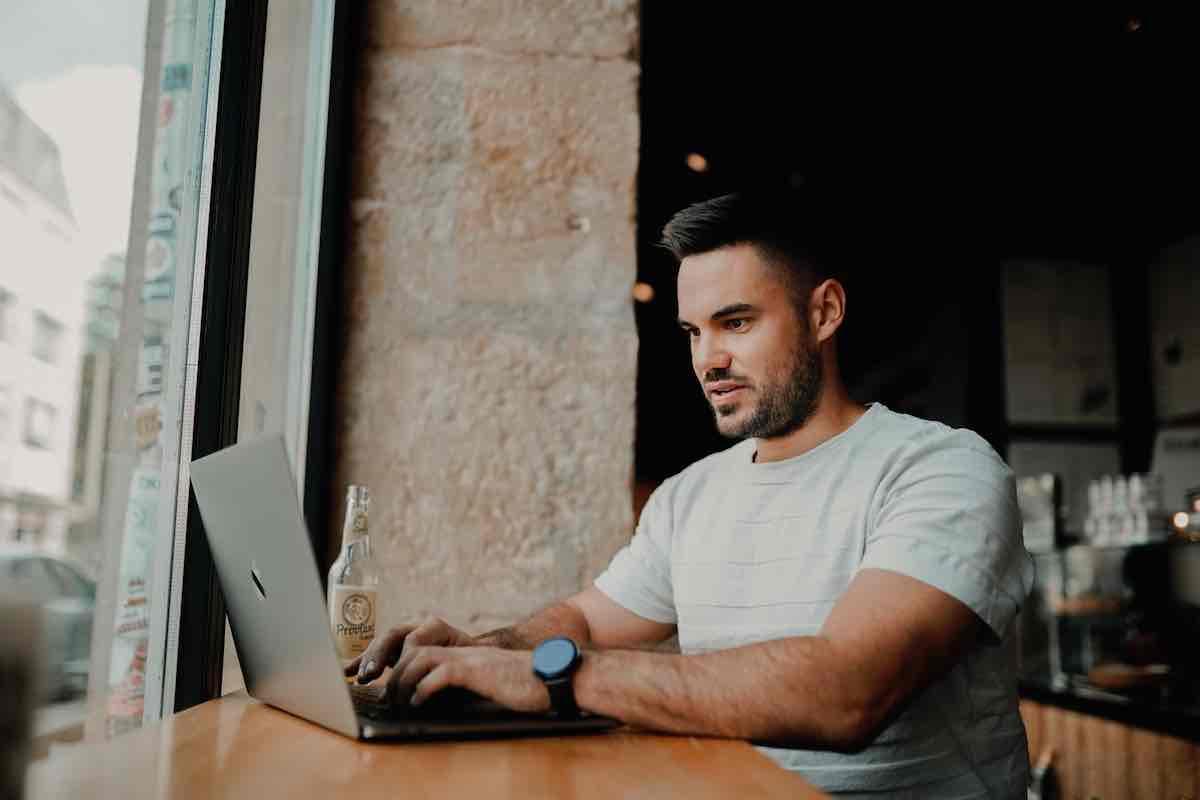Man working on Fiverr
